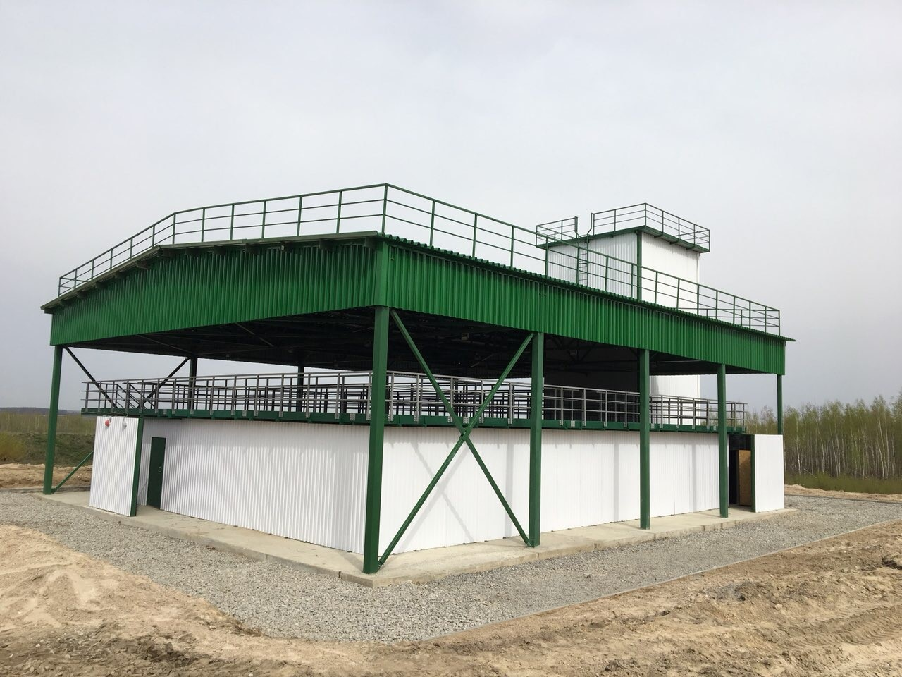 Steel frame structures for indoor and field shooting ranges, firearms training sites