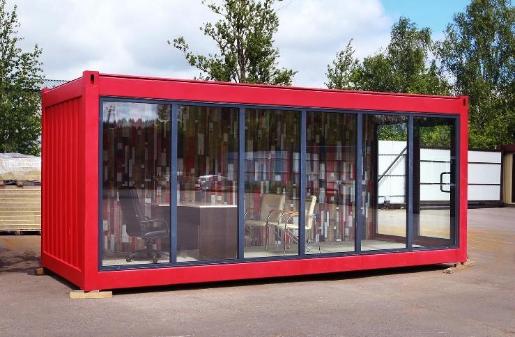 Модуль контейнерний універсальний (виставковий павільйон/кафе) МКУ-1